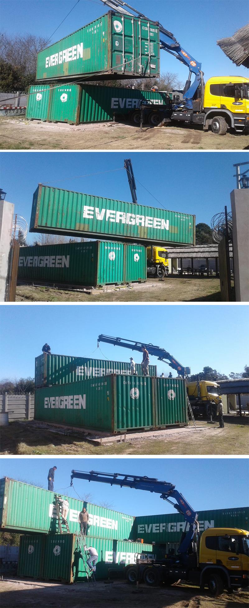 Montaje múltiples para vivienda de contenedores