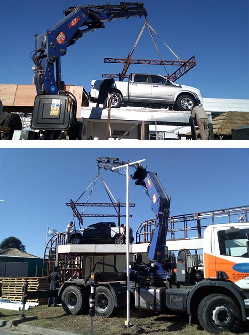 Montaje de Camioneta en Stand