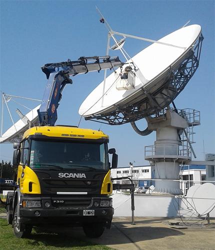 Trabajo en antena parabólica con barquilla