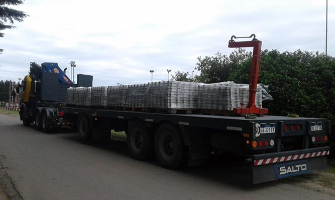 Transporte de material paletizado